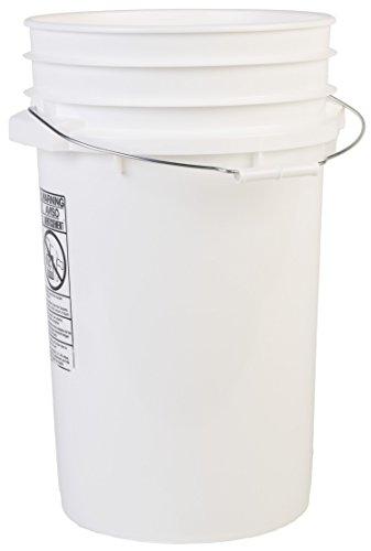 Hudson Exchange Premium 7 Gallon Bucket, HDPE, White