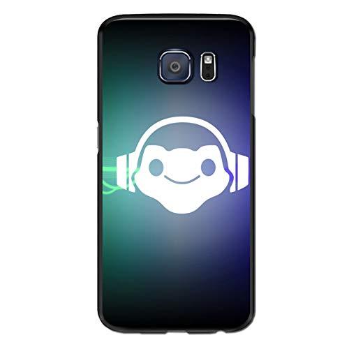 Video Game Over-Watch Galaxy S6 Edge Case,Samsung S6 Edge Case, Anti-Scratch Flexible TPU Protective Skin Cover Case Black