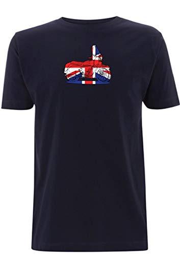 Tijd 4 Tee Vincent Union Jack T Shirt Zwarte Ridder 1950 Klassieke Britse Fiets Vlag