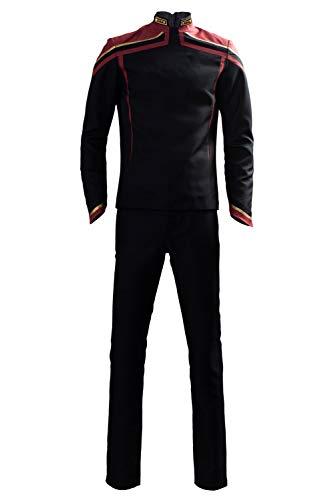 Prettycos Cosplay-Kostüm für Erwachsene, Herren, Captian-Uniform, schwarzer Stofffilm, Halloween-Kostüm Gr. Medium, Schwarz