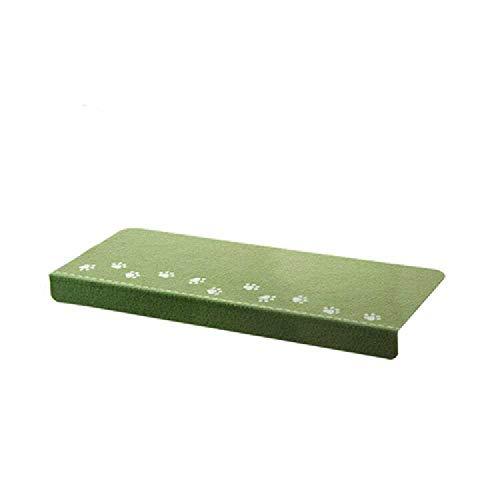 chengtengkejibaihuod Huishoudmatten, Antislipmatten, Vloermatten, Lijmvrije Zelfklevende Trapmatten, Lichtgevende Fluorescerende Vloermatten Met Zichtbare Vloerbedekking (10 Stuks) 55,5 * 22,5 * 4 cm/ groen