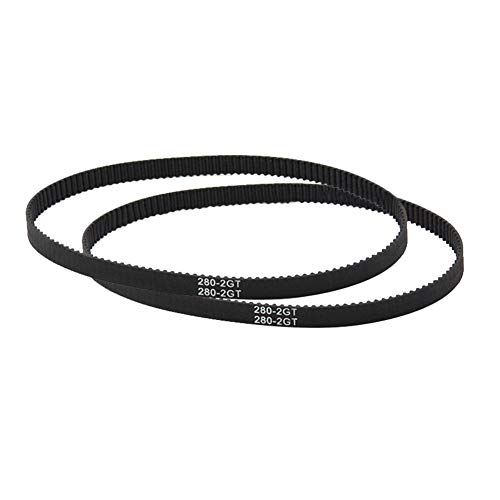Parti e accessori per stampante 3D, Cinghia dentata ad anello chiuso Huhuswwbin GT2 110-852mm Parti di ricambio per stampante 3D sincrona in gomma 6mm - GT2-280mm Nero