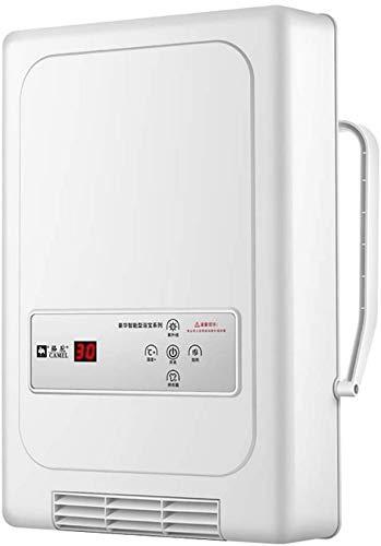 Baño montado en la pared de 2000 vatios de baja energía Calentador eléctrico, control inteligente de temperatura, protección de seguridad Diseño impermeable IPX2, calentador de panel eléctrico