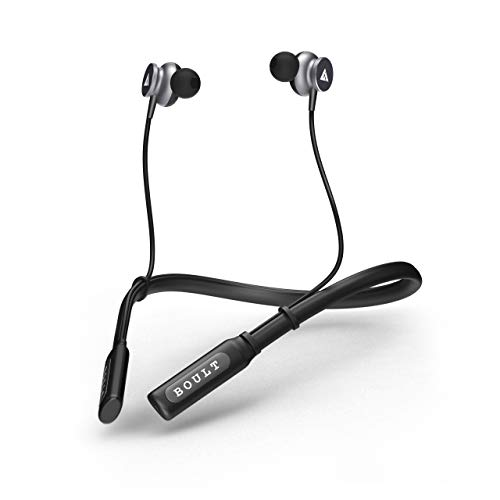 Boult Audio ProBass Curve Wireless Neckband Earphones with 12 Hour Battery Life & Latest Bluetooth 5.0, IPX5 Sweatproof Headphones with mic (Black)