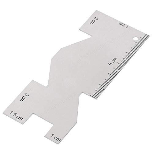 Metall-Messuhr für das Nähen Handwerk Flexible Messuhr Präzises Quilten Lineal Nähwerkzeug Zubehör