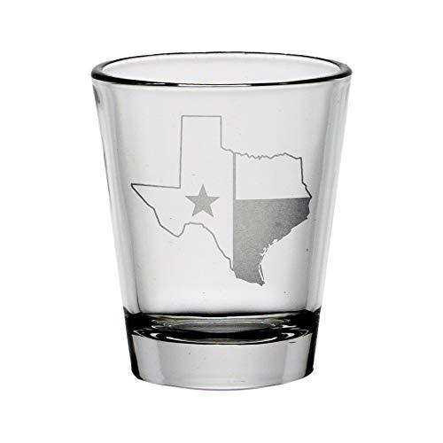 Texas Outline State Flag Shot Glass