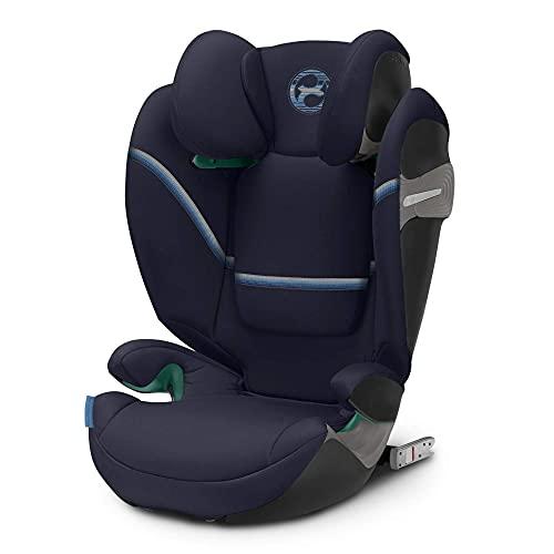 CYBEX Gold Kinder-Autositz Solution S i-Fix, Für Autos mit und ohne ISOFIX, 100 - 150 cm, Ab ca. 3 bis ca. 12 Jahre, Navy Blue