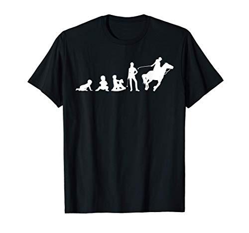 Pferde Evolution einer Reiterin Pferdefreunde Pferd Reiten T-Shirt