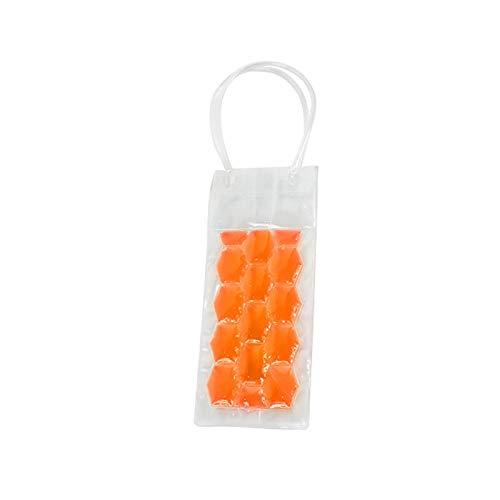 YJTT La Bolsa de Hielo PVC Enfriamiento Rápido Enfriador de Botellas de Vino Congelador Bolsa de Gel refrescante Cerveza Holder Soporte portátil Herramientas Licor de Hielo frío (Color : Orange)