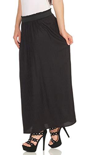 Only Onlvenedig Paperbag Long Skirt Wvn Noos Falda, Negro (Black Black), 42 (Talla del Fabricante: Large) para Mujer