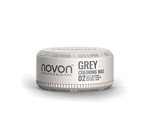 Novon Professional Color Wax - 02 GREY GRAU - 100ml - Farbwax Silver Ash Wax - Hair Wachs - Effekte setzen - Haar Wachs Farbig