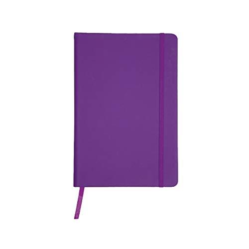 Projects Notizbuch A5 liniert Hardcover Gummiband Lesezeichen 'Business' lila | Bullet Journal Din A5 Buch 192 Seiten 80g/m² FSC Papier | Journal Notebook Paper A5 lined