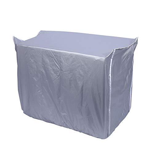 Copertura per Condizionatore Protezione Antipolvere Impermeabile Schermo in Tessuto d'argento (86 × 32 × 56cm)
