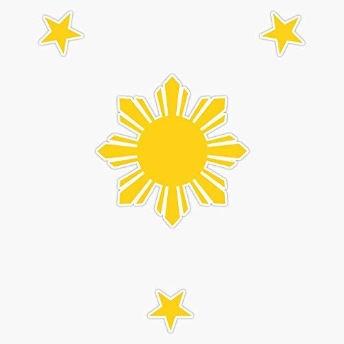Filipino Sun and Stars Decal Vinyl Bumper Sticker 5'