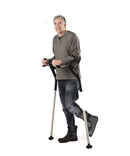 Forearm Crutches, 1 Pair Hands-Free Crutch Cane with...