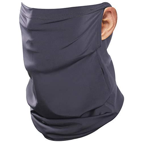 JSPA Summer Face Mask, Neck Gaiter Earloop Dust UV Protection Ice-Feeling Quick Dry Face Bandana Reusable Face Mask Fashion Headbands Balaclava Headwear Cap for Men Women Black