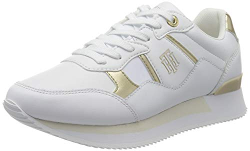 Tommy Hilfiger Damen TH Interlock City Sneaker, weiß, 39 EU