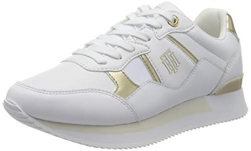 Tommy Hilfiger Damen TH Interlock City Sneaker, weiß, 42