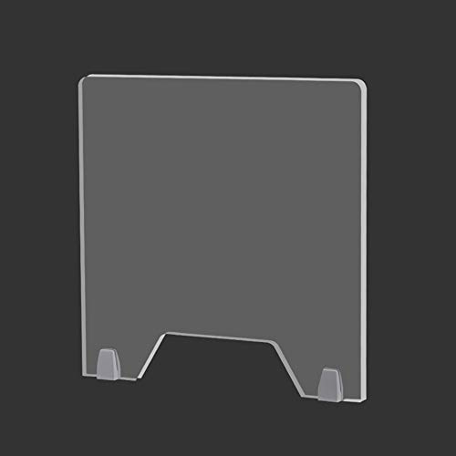 JWW Mampara De Protección Transparente Protector De Estornudo con Ventanilla Panel De Protección para Mostradores 60 * 60cm