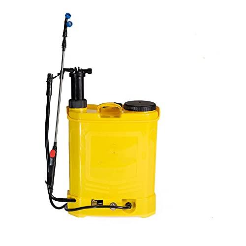 Pompa a spalla elettrica a batteria da giardino da 18 lt irroratrice nebulizzatore spruzzino doppia funzione batteria e manuale parassiti Erbacce Pompa a Zaino a Batteria Fertilizzante