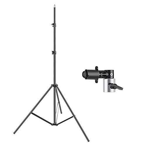 Neewer 260cm Cavalletto per Fotografia & Supporto Clip per Riflettore/Fondale, per Studio Fotografico Riprese di Prodotti/Ritratti & Registrazioni Video ecc. (SENZA Riflettore)
