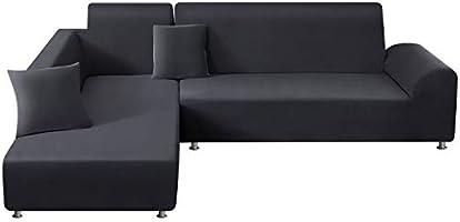 TAOCOCO Sofa Überwürfe Sofabezug Elastische Stretch Sofabezüge für L-Form Sofa Abdeckung 2er Set für 3 Sitzer + 3 Sitzer...