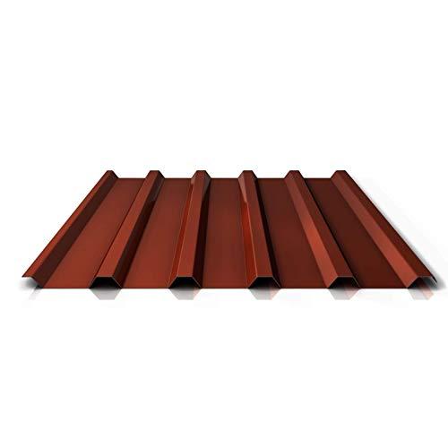 Trapezblech | Profilblech | Dachblech | Profil PS35/1035TR | Material Stahl | Stärke 0,50 mm | Beschichtung 25 µm | Farbe Rotbraun