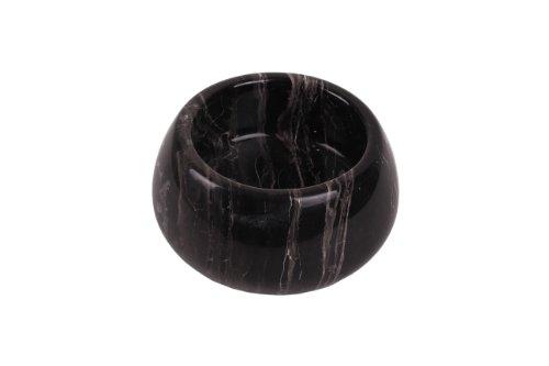 Saladier décoratif très élégant en marbre massif noir - Pour fruits ou saladier - Diamètre : env. 17 cm