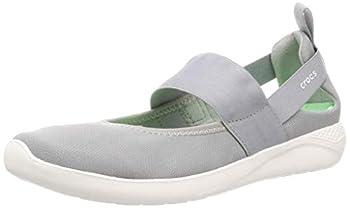 Crocs Women s LiteRide Mary Jane Sneaker Light Grey/White 9 Women