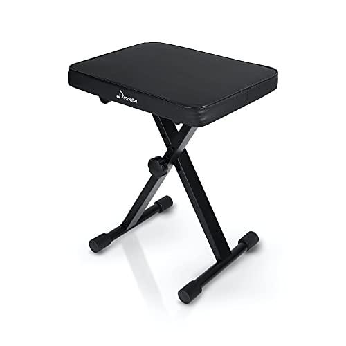 Donner Banco de Teclado, Banco de Piano Ajustable Plegable X-Style Silla Asiento,...