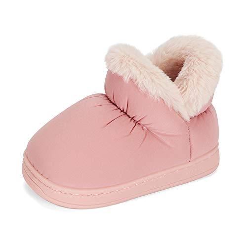 LACOFIA Botas de Invierno para niñas Zapatos de Nieve Antideslizantes de Goma para Invierno para niñas Rosa 30/31