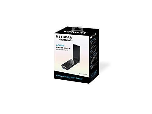 Netgear A7000-10000S - Adaptador y tarjeta de red, accesorio de red (inalámbrico, USB, WLAN, IEEE 802.11ac, 1900 Mbit/s) negro [modelo americano]
