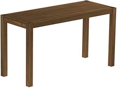 Brasilmöbel Hochtisch Rio Kanto 200x80 cm Nussbaum Bartisch Holz Tisch Pinie Massivholz Stehtisch Bistrotisch Tresen Bar Thekentisch Echtholz Größe und Farbe wählbar