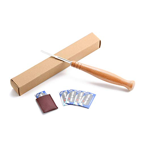 Onseen Bread Lame Bread Bakers Cutter Slashing Tool, Bread Dough Scoring Tool for Makers, 5 Blades with Leather Protective Case