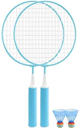1 Set farbiger Badmintonschläger Anfänger Training Outdoor Sport Freizeit Spielzeug Badminton Set für Kinder Kinder spielen (2 Stück Blauer Schläger, zufällige Farbe Badminton) badminton sets