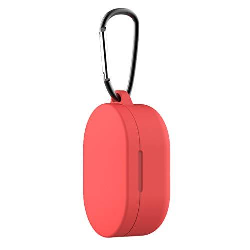 Silikon Hülle Kompatibel mit Xiaomi Redmi Airdots Bluetooth kopfhörer Schutzhülle, Allround Abdeckung Gehäuse mit Karabiner für Xiaomi Redmi Airdots Bluetooth kopfhörer Ladecase Cover (C)