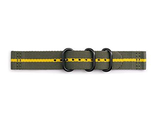 Samsung GP-R600BREECAH Premium NATO Armband aus Nylon für Gear Sport Grau/Gelb