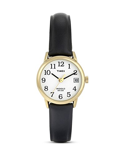Timex Damen-Armbanduhr Schwarz Leder T2H341D7