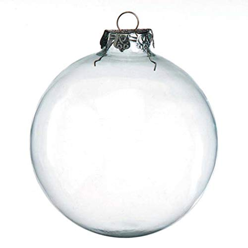 Darice 2-Piece Glass Balls, 100mm, Clear (2610-48)