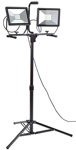 Northpoint LED Baustrahler Quick-Release Arbeitsstrahler mit Stativ Fluter 100W Leistung 8000 Lumen Lichtstrom 160cm Stativ 5m Zuleitung
