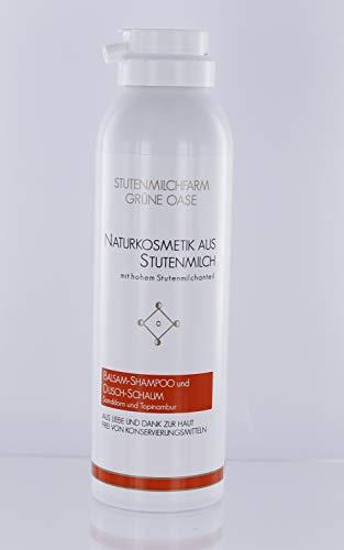 Stutenmilch Duschschaum und Balsam Shampoo mit Sanddorn Topinambur 50 ml