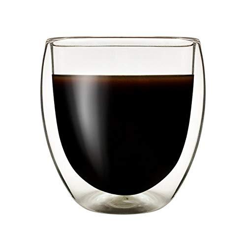 Heaviesk 250 ML Hitzebeständige Doppelwand Glasschale Tee Trinken Tasse Handgemachtes Isoliertes Klarglas Transparent Ei Form Wasserglas