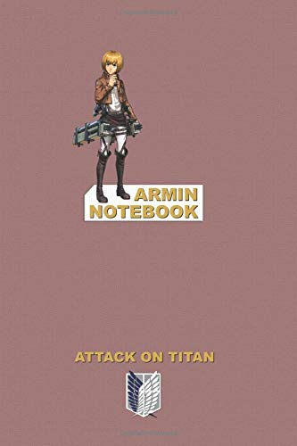 Armin Notebook: Perfect Gift, School&Office, Attack On Titan, Armin Arlert