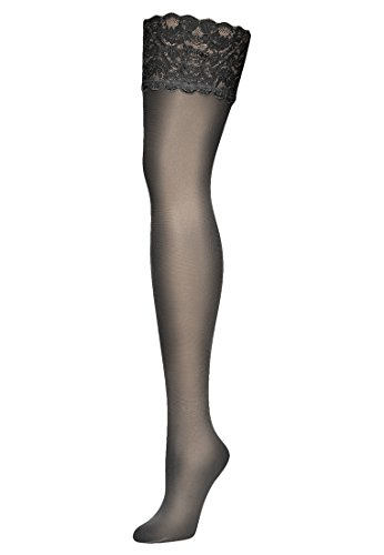 Wolford Damen Halterlose Strümpfe & Socken (LW) Satin Touch 20 Stay-Up, 20 DEN,black,Medium (M)