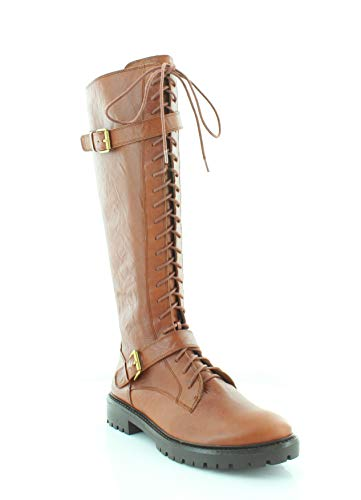 Lucky Brand Womens Inniko Leather Almond Toe Knee High Cold, Rye, Size 8.5