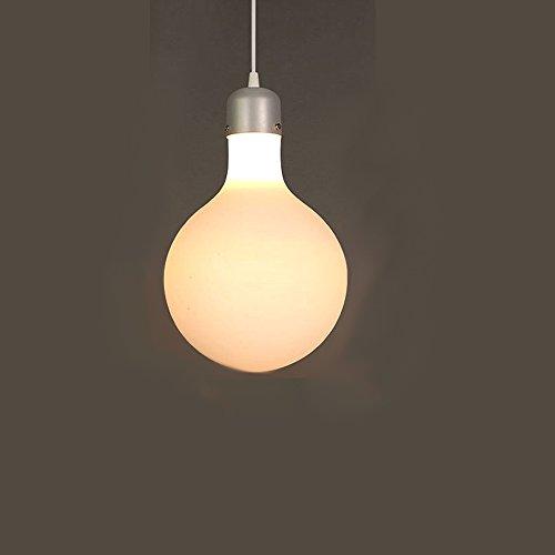 Lumière pendentif LED Balai moderne en verre givré simple pour chambre d'enfant, chambre à coucher, salon, restaurant, café