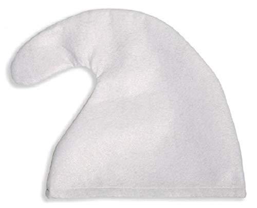 GPKS 1 x Zwergenmütze weiß Mütze --für Kopfumfang von ca. 57 cm geeignet -- Zwerg Karneval fürs Kostüm Faschingskostüm Erwachsene Kinder