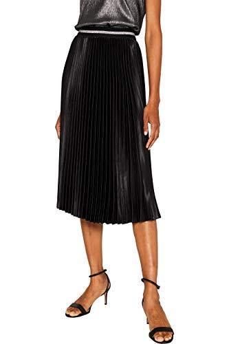 ESPRIT Damen 119EE1D009 Rock, Schwarz (Black 001), (Herstellergröße: 38)