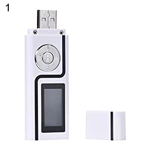 MP3 Music Media Player Portable USB Stick Shape LCD Screen Dual Audio Ports Gift