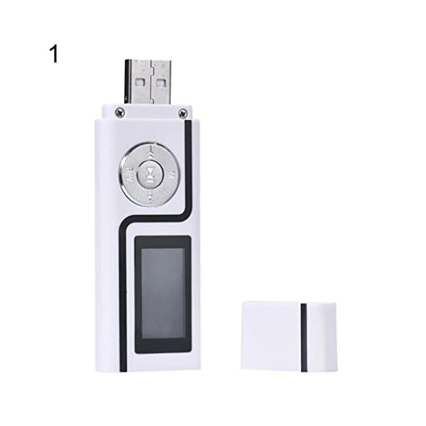 MP3 Music Media Player Portable USB Stick Shape LCD Screen Dual Audio Ports Gift 3